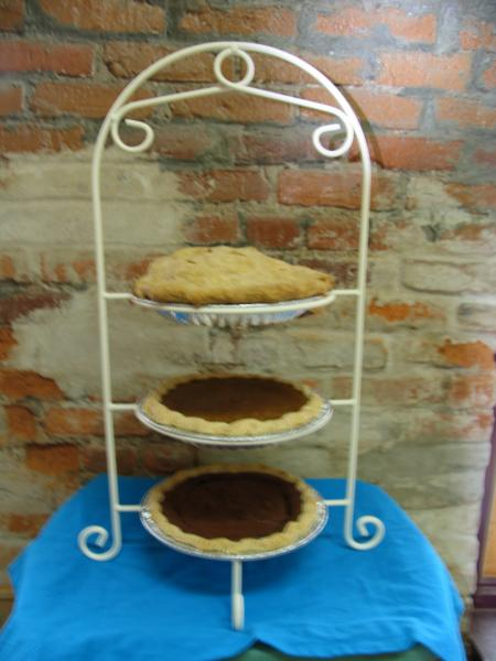 Pie shelf with Holiday Pies